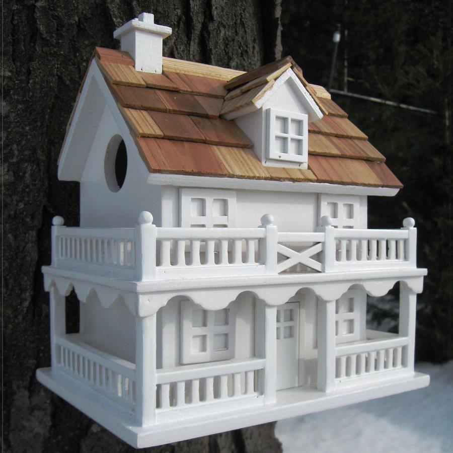 Home Bazaar 7.25-in W x 10.25-in H x 10.75-in D White Bird House