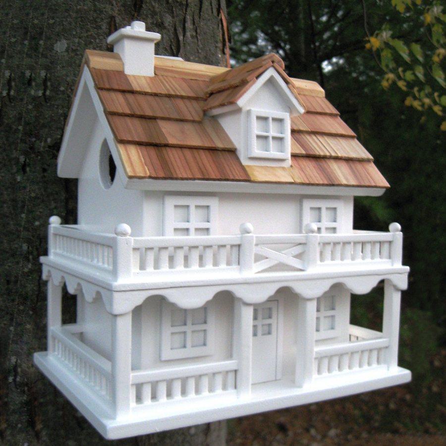 Home Bazaar 5.78-in W x 8.75-in H x 7.88-in D White Bird House