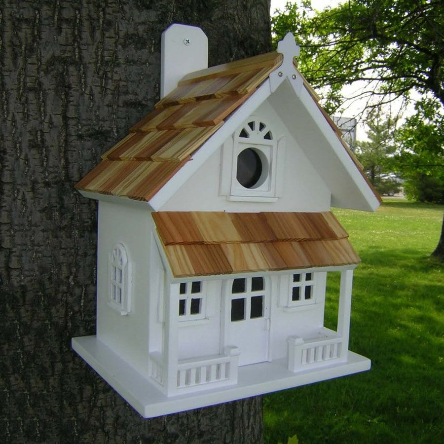 Home Bazaar 8.25-in W x 10-in H x 6.25-in D White Bird House