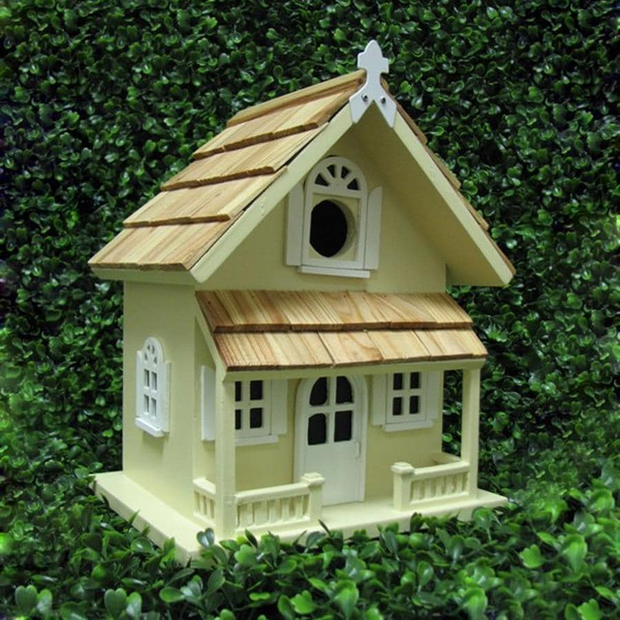 Home Bazaar 8-in W x 10-in H x 9-in D Yellow Bird House