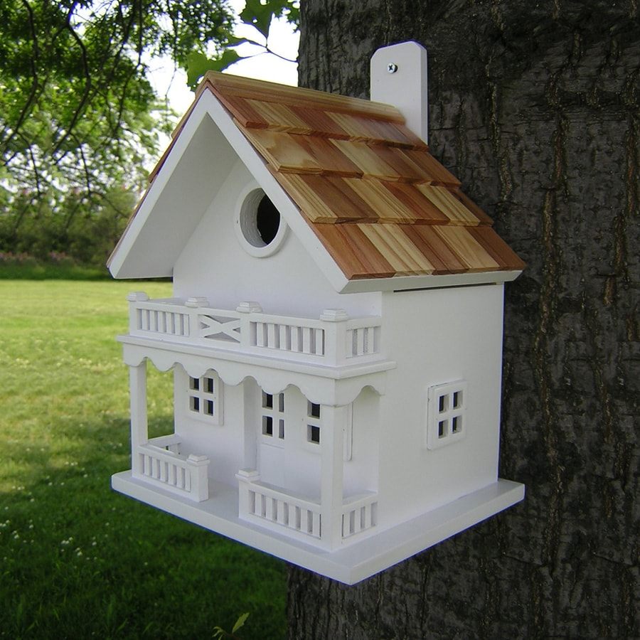 Home Bazaar 6-in W x 9.5-in H x 8-in D Bird House