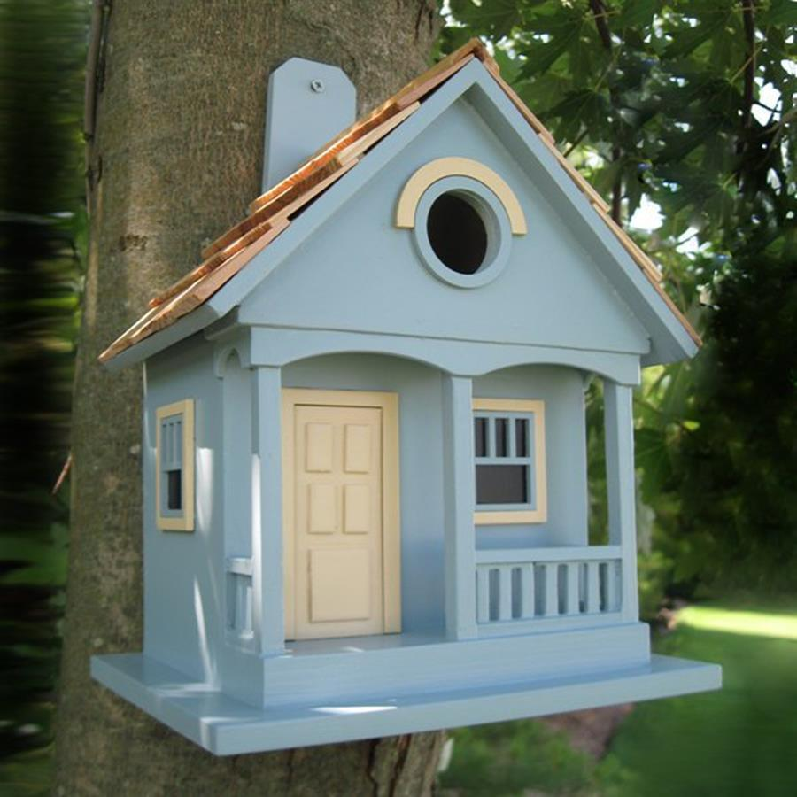 Home Bazaar 6-in W x 10-in H x 8-in D Light Blue Bird House