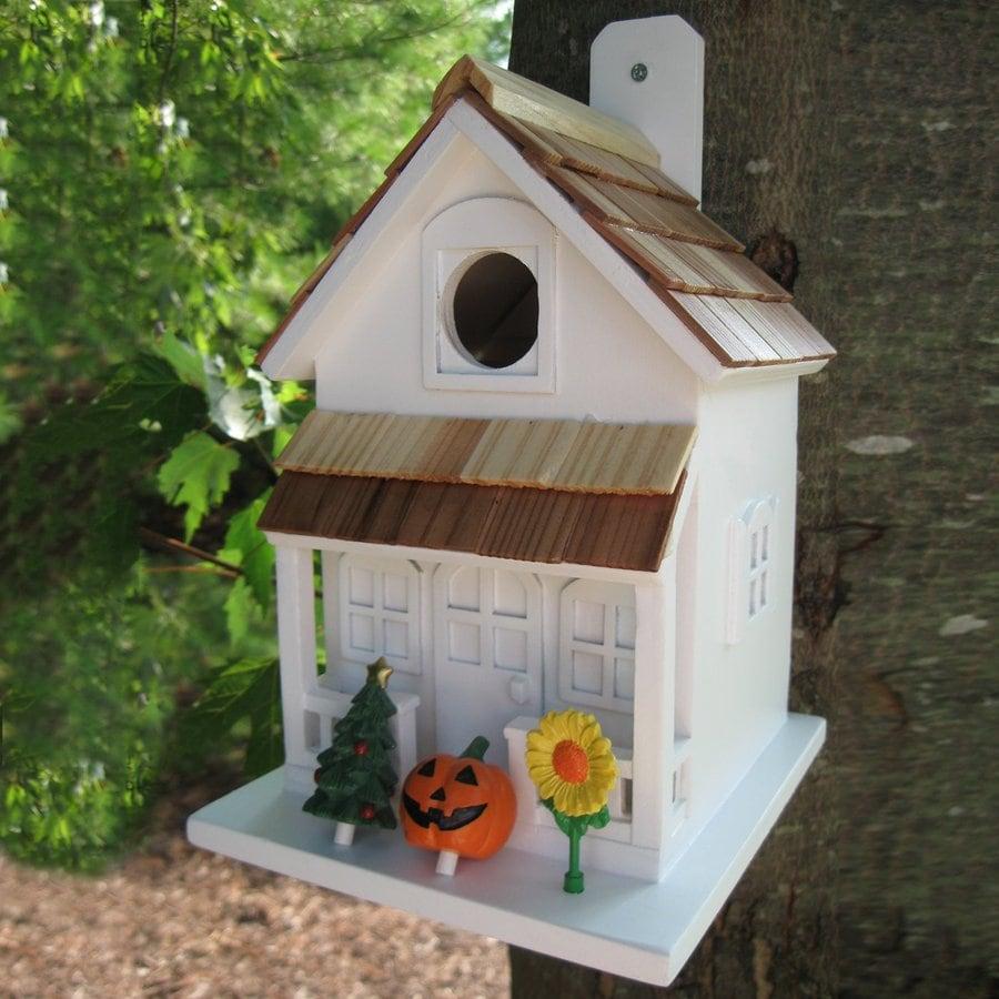 Home Bazaar 6-in W x 10-in H x 8-in D Bird House