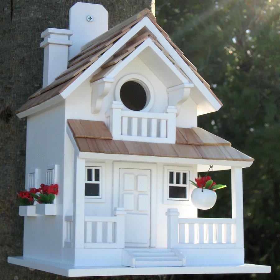 Home Bazaar 8-in W x 11-in H x 9-in D White Bird House