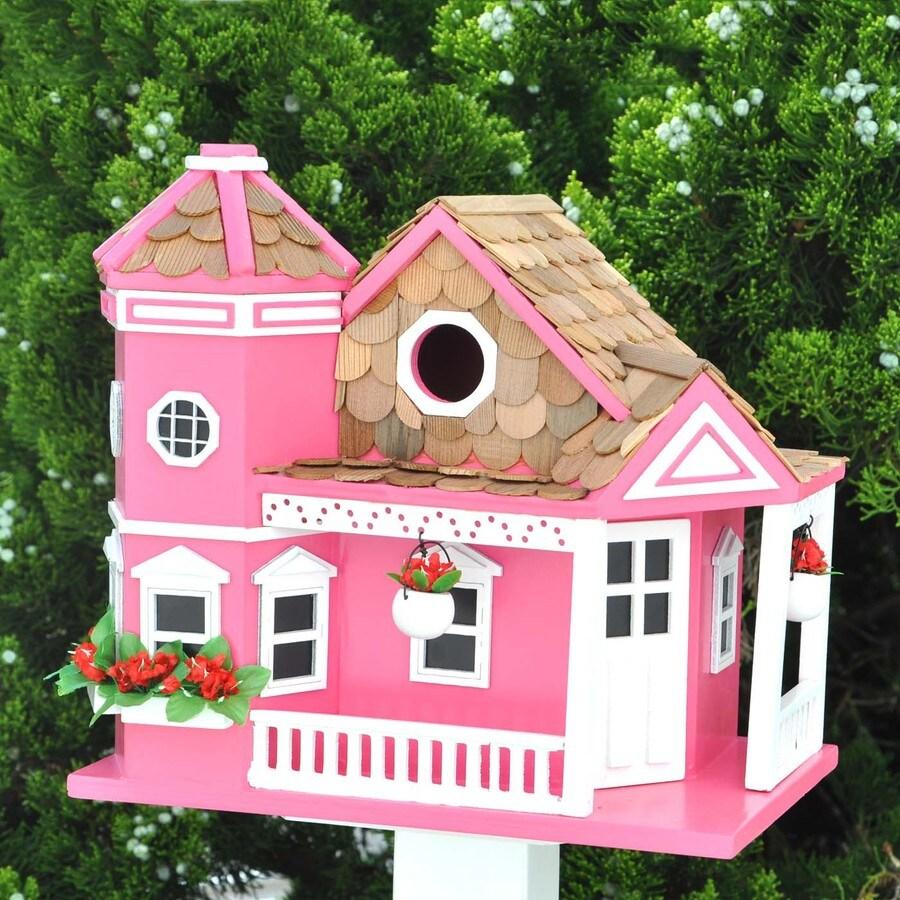 Home Bazaar 9-in W x 9-in H x 10-in D Honeysuckle Bird House