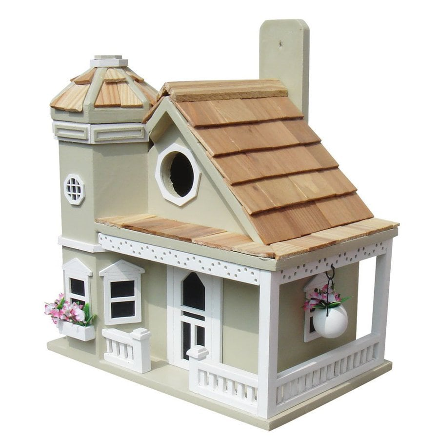 Home Bazaar 9-in W x 9-in H x 10-in D Green Bird House