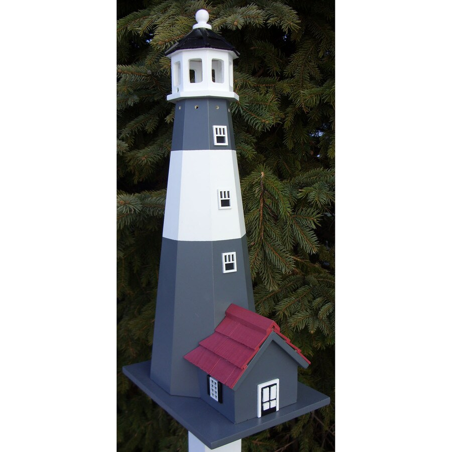 Home Bazaar 7.25-in W x 10-in H x 9.75-in D Gray Bird House