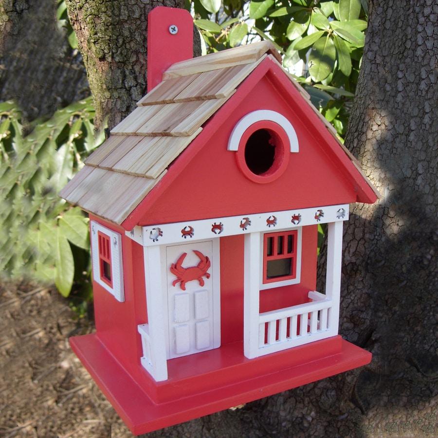 Home Bazaar 8.25-in W x 6.5-in H x 9.5-in D Red Bird House