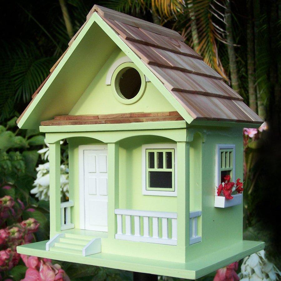 Home Bazaar 6.5-in W x 9.5-in H x 8.25-in D Key Lime Bird House