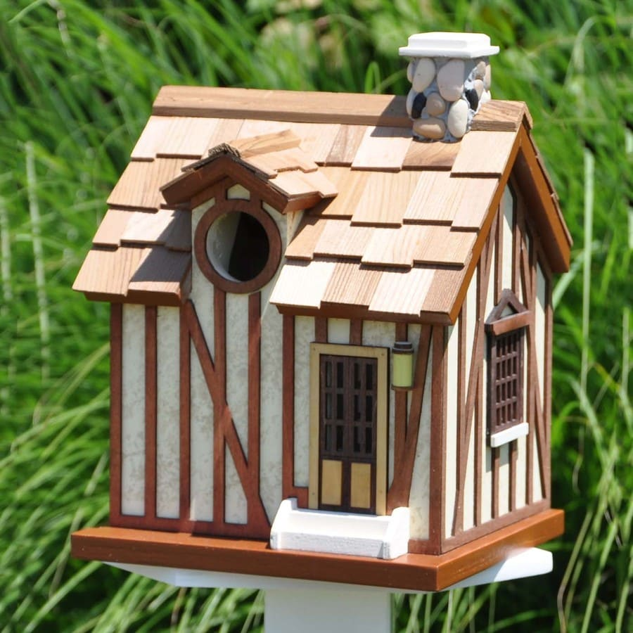 Home Bazaar 6.125-in W x 9.75-in H x 7.125-in D Bird House