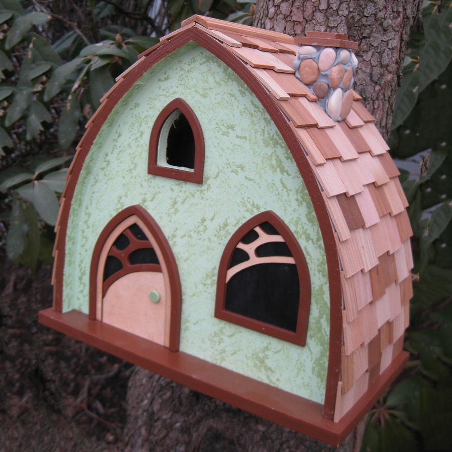 Home Bazaar 7.5-in W x 10.25-in H x 10.25-in D Bird House