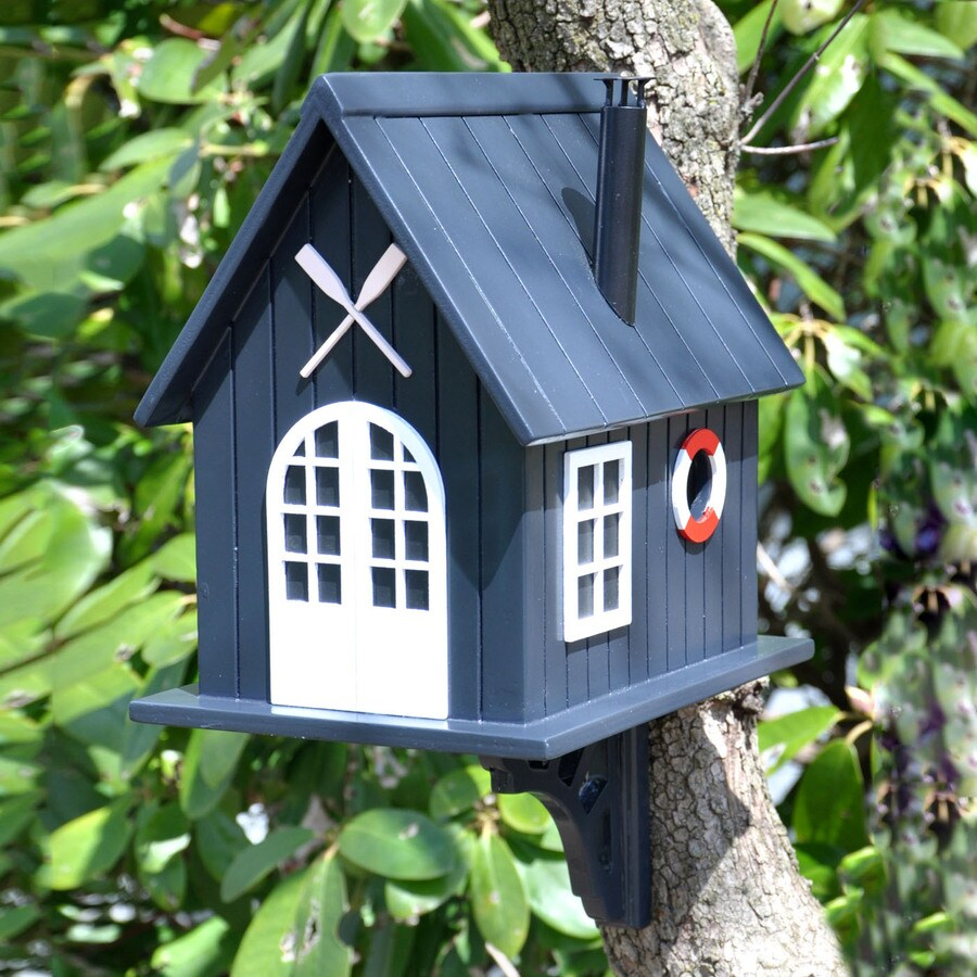 Home Bazaar 7.5-in W x 10.25-in H x 10.25-in D Black Bird House