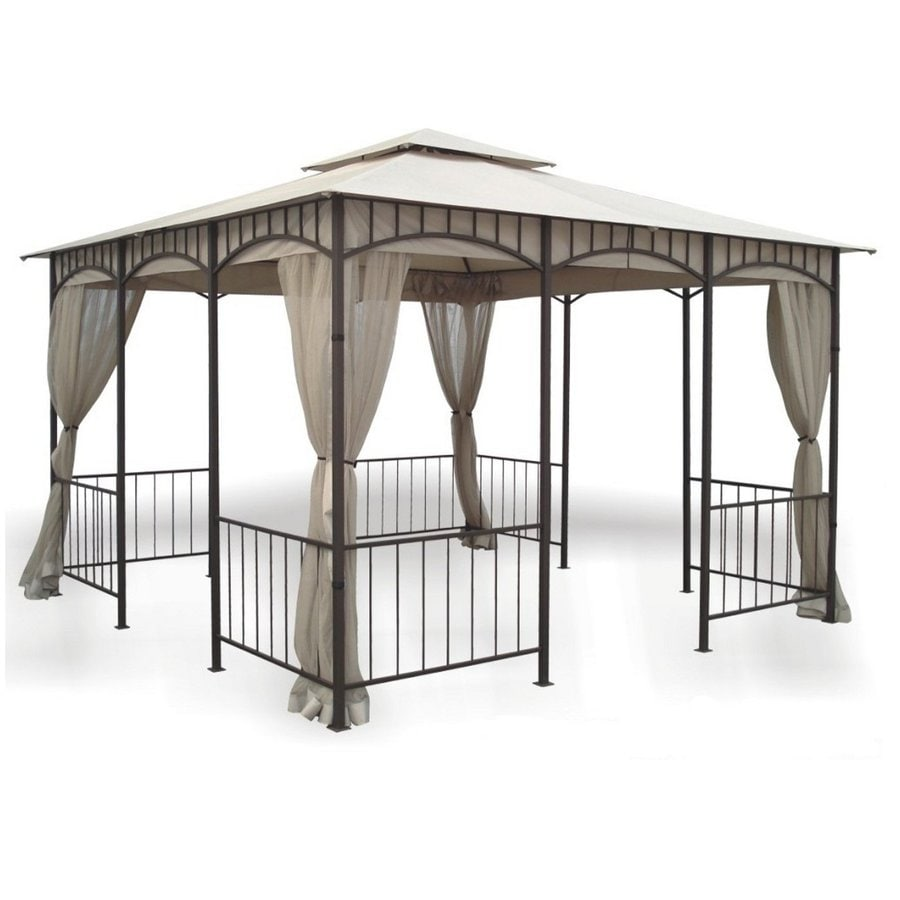 D.C. America Bronze Steel Square Screened Gazebo (Exterior: 11.5-ft x 11.5-ft)