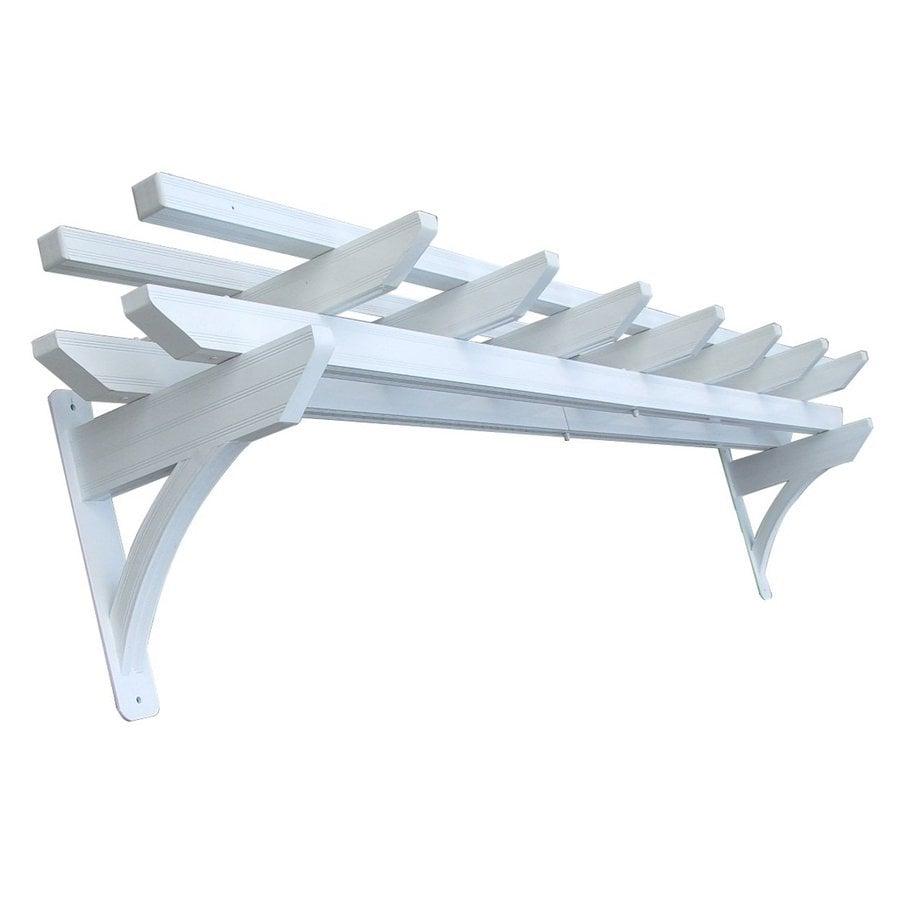 D.C. America 23.28-in W x 119.64-in L x 20-in H x White Aluminum Attached Pergola