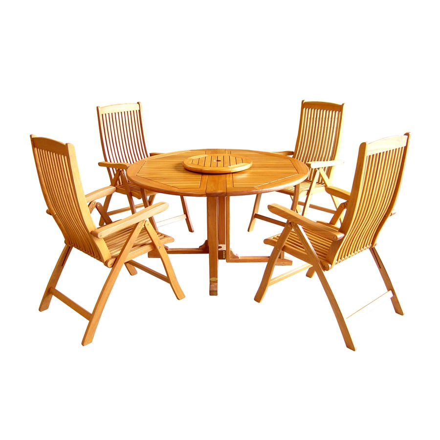 International Caravan Royal Tahiti 6-Piece Balau Dining Patio Dining Set