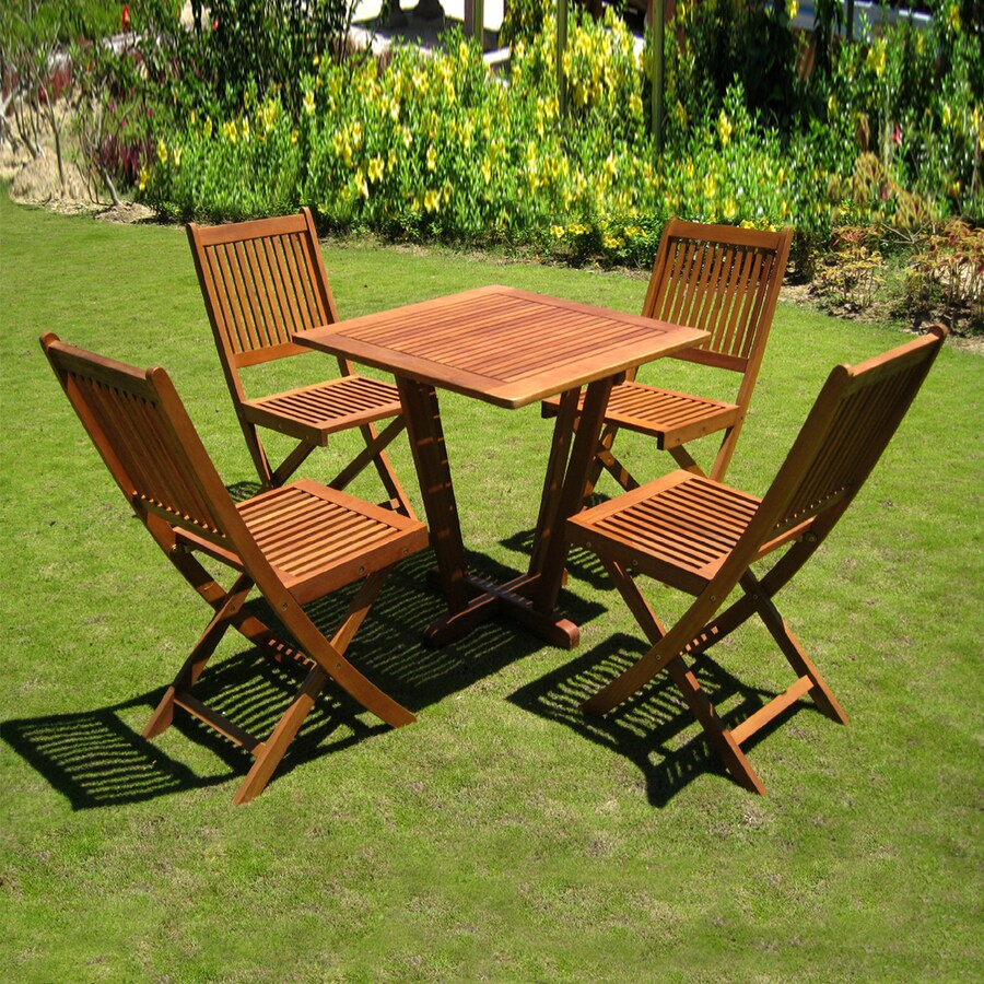 outdoor bistro set shop international caravan royal tahiti 5 brown wood 29215