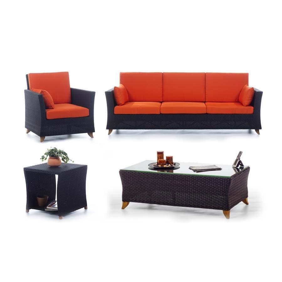 All Things Cedar 4-Piece Aluminum Patio Conversation Set