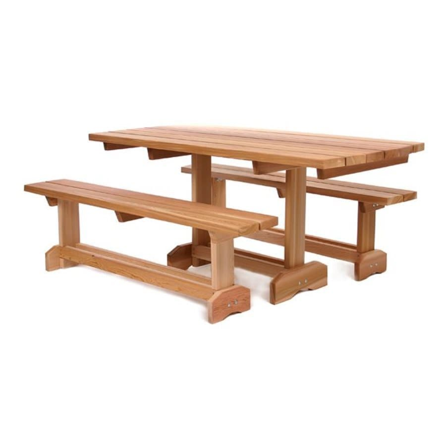 All Things Cedar 3-Piece Natural Cedar Patio Dining Set