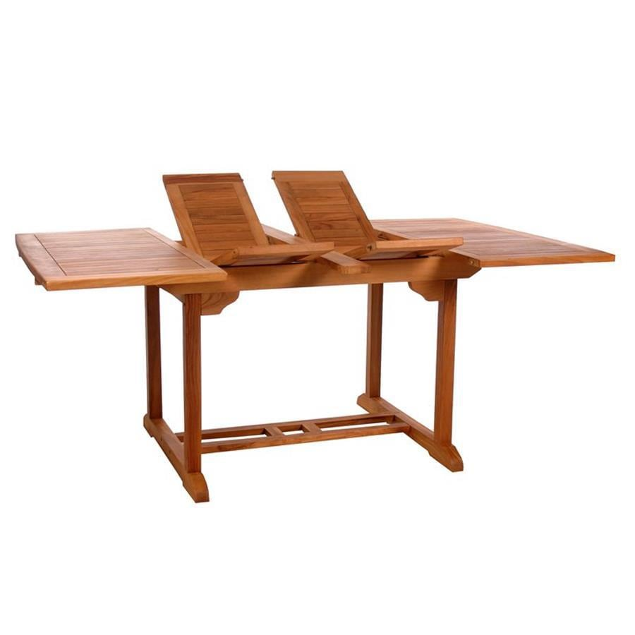 All Things Cedar 50-in W x 50-in L Rectangle Teak Dining Table