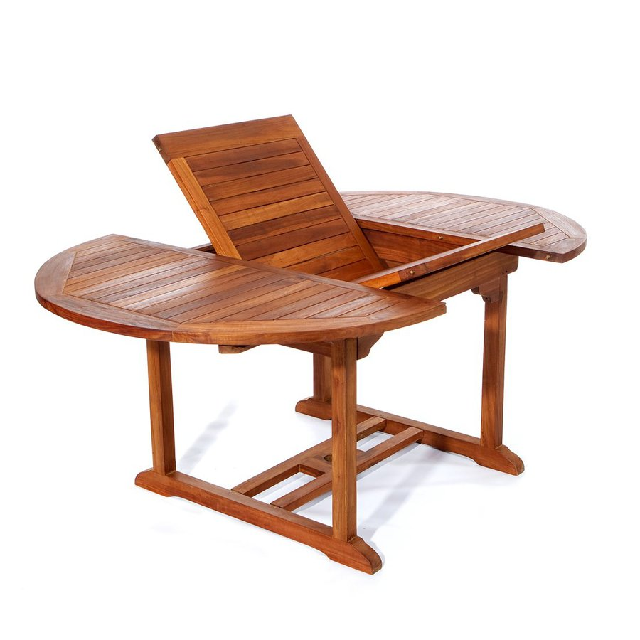 All Things Cedar 48-in W x 48-in L Oval Teak Dining Table