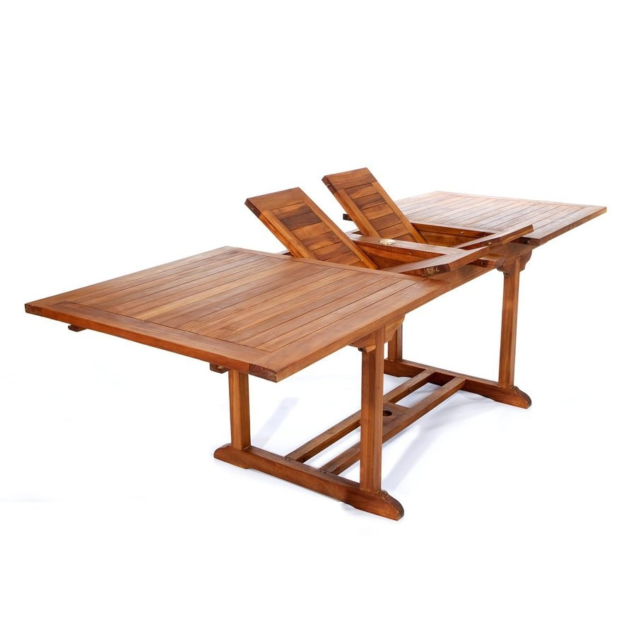 All Things Cedar 36 In W X 72 L Rectangle Teak Dining Table