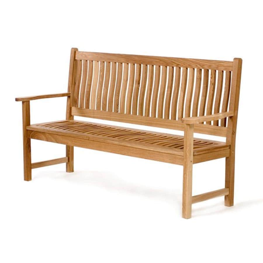 Shop all things cedar 26 in w x 64 in l wood patio bench at Lowes garden bench