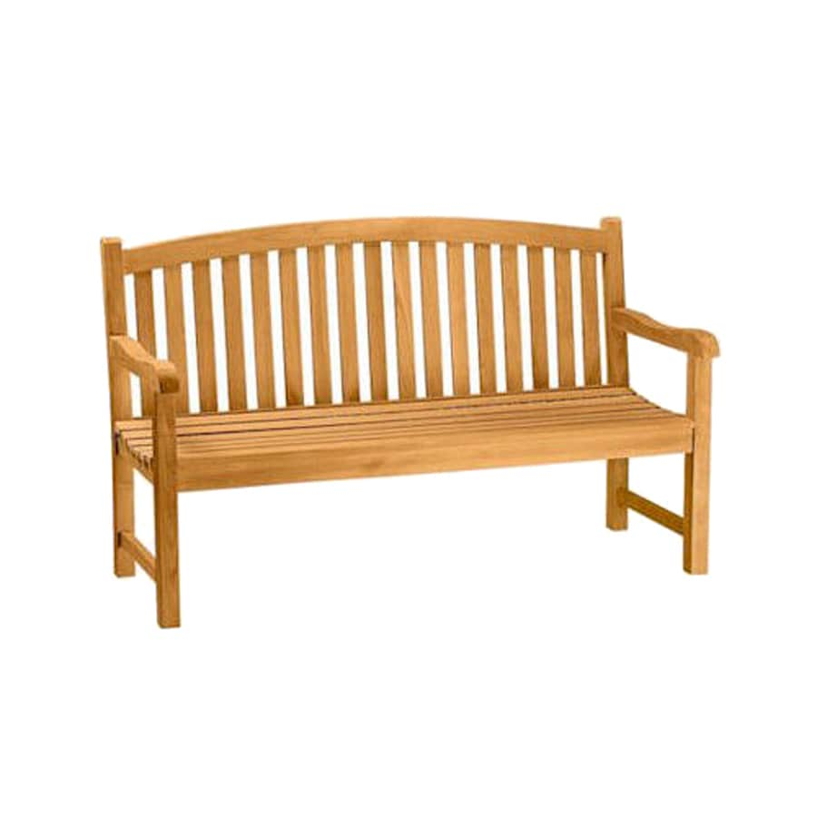 Anderson Teak Chelsea 21-in W x 59-in L Natural Teak Patio Bench