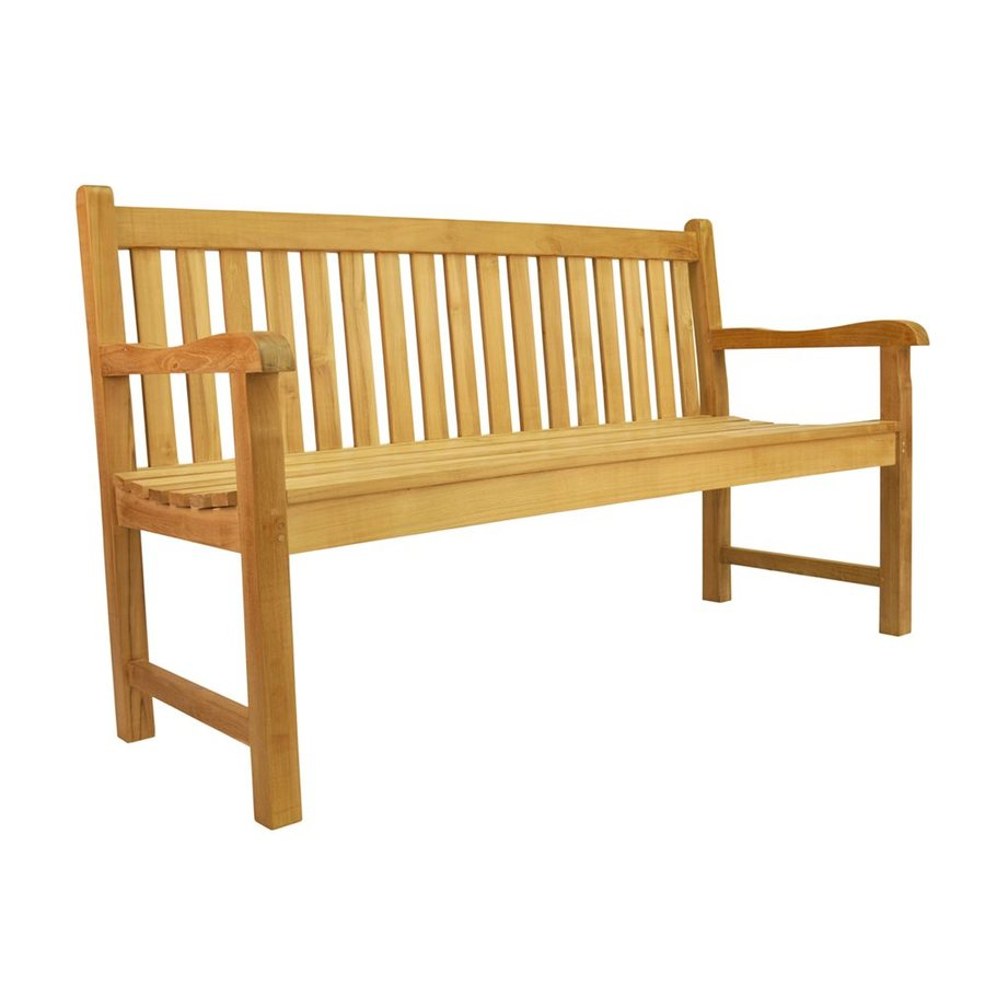 Anderson Teak Classic 21-in W x 59-in L Teak Patio Bench