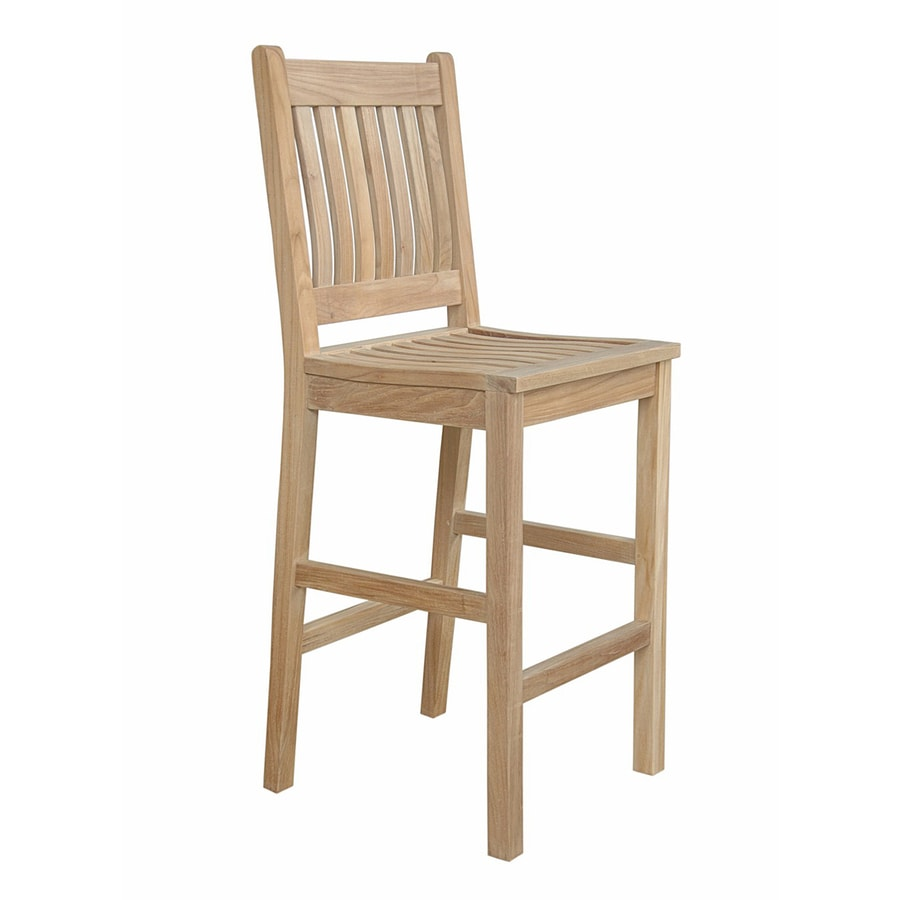 Anderson Teak Avalon Natural Teak Patio Barstool Chair