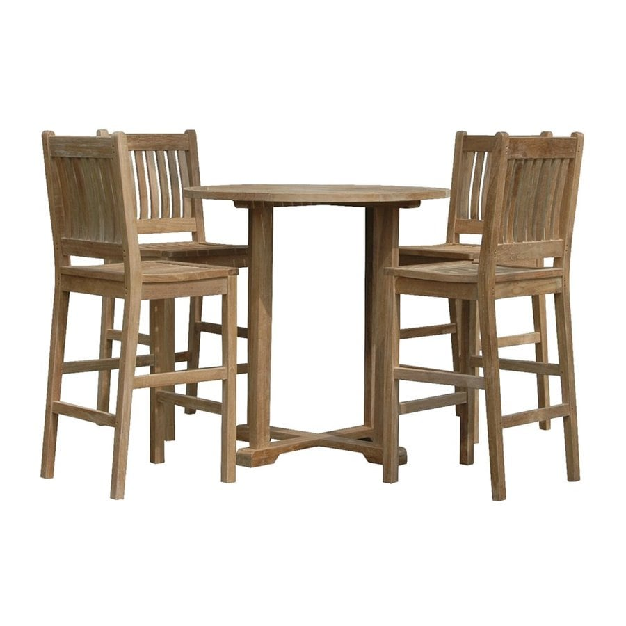Anderson Teak Avalon 5-Piece Unfinished Teak Bistro Patio Dining Set