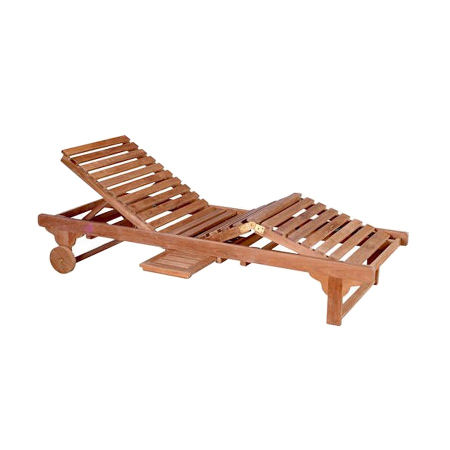 Anderson Teak Capri Sun Natural Teak Patio Chaise Lounge