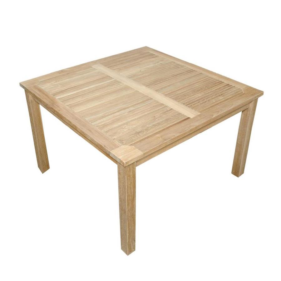 Anderson Teak Windsor 47-in W x 47-in L Square Teak Dining Table