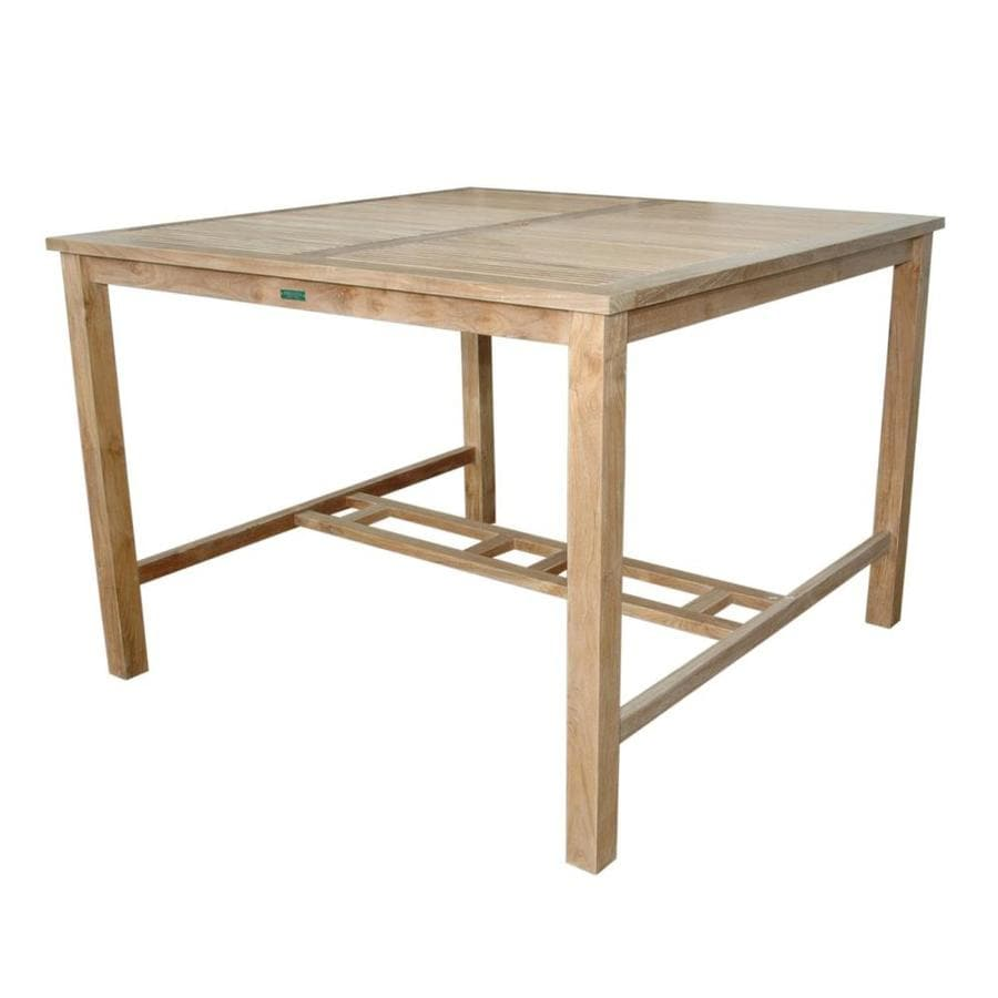 Anderson Teak Windsor 59-in W x 59-in L Square Teak Bar Table