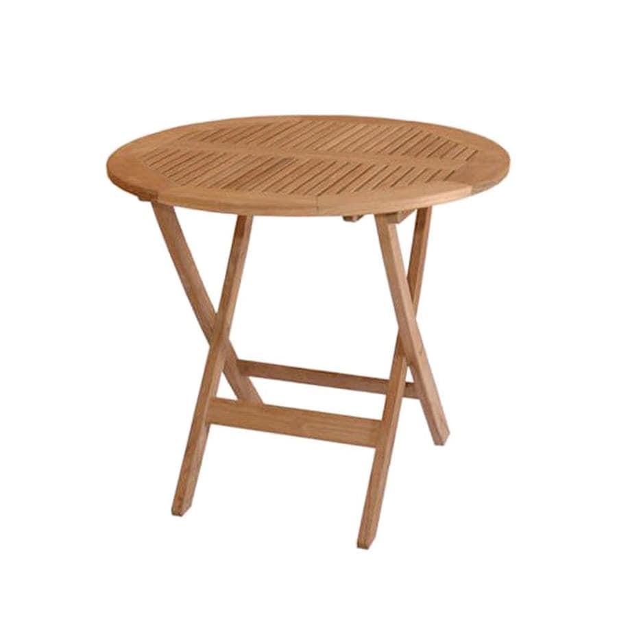 Anderson Teak Windsor 31-in W x 31-in L Round Teak Folding Dining Table