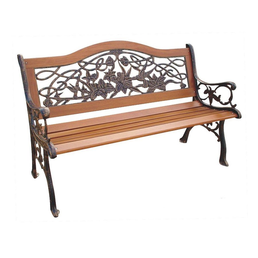 D.C. America 21-in W x 49.5-in L Patio Bench