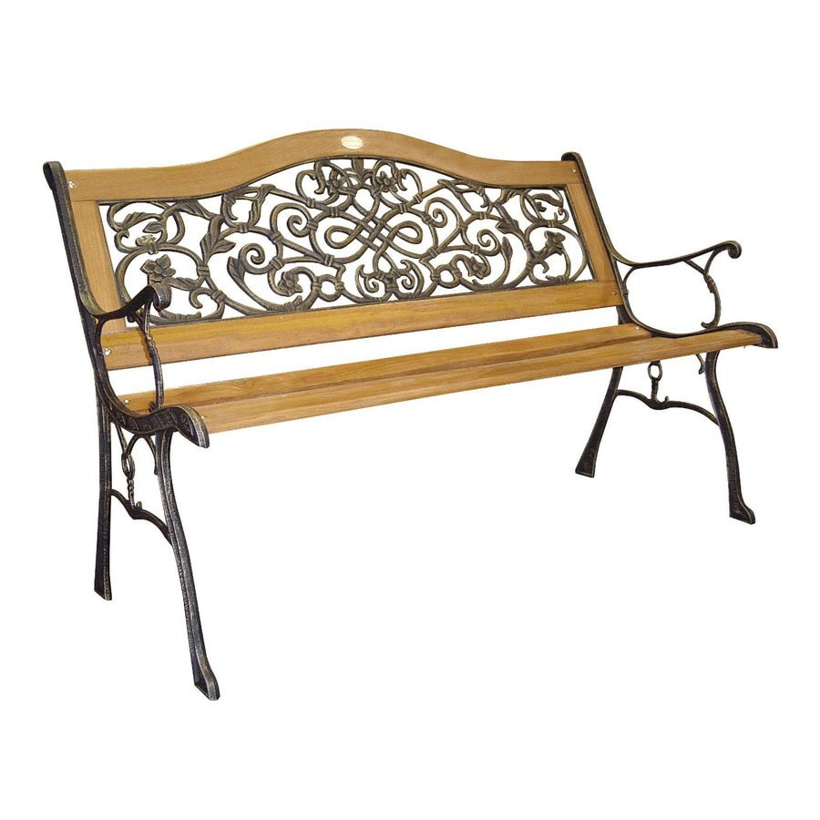 D.C. America 34-in W x 50.5-in L Bronze Patio Bench