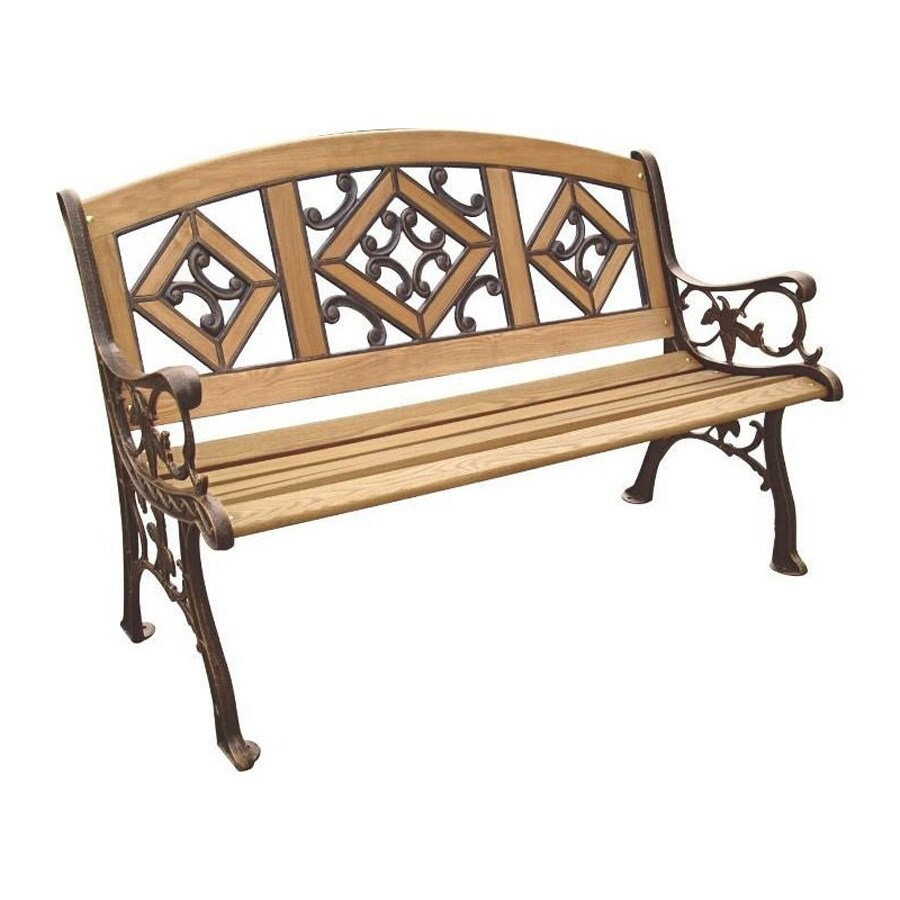 D.C. America 34-in W x 49.5-in L Bronze Patio Bench
