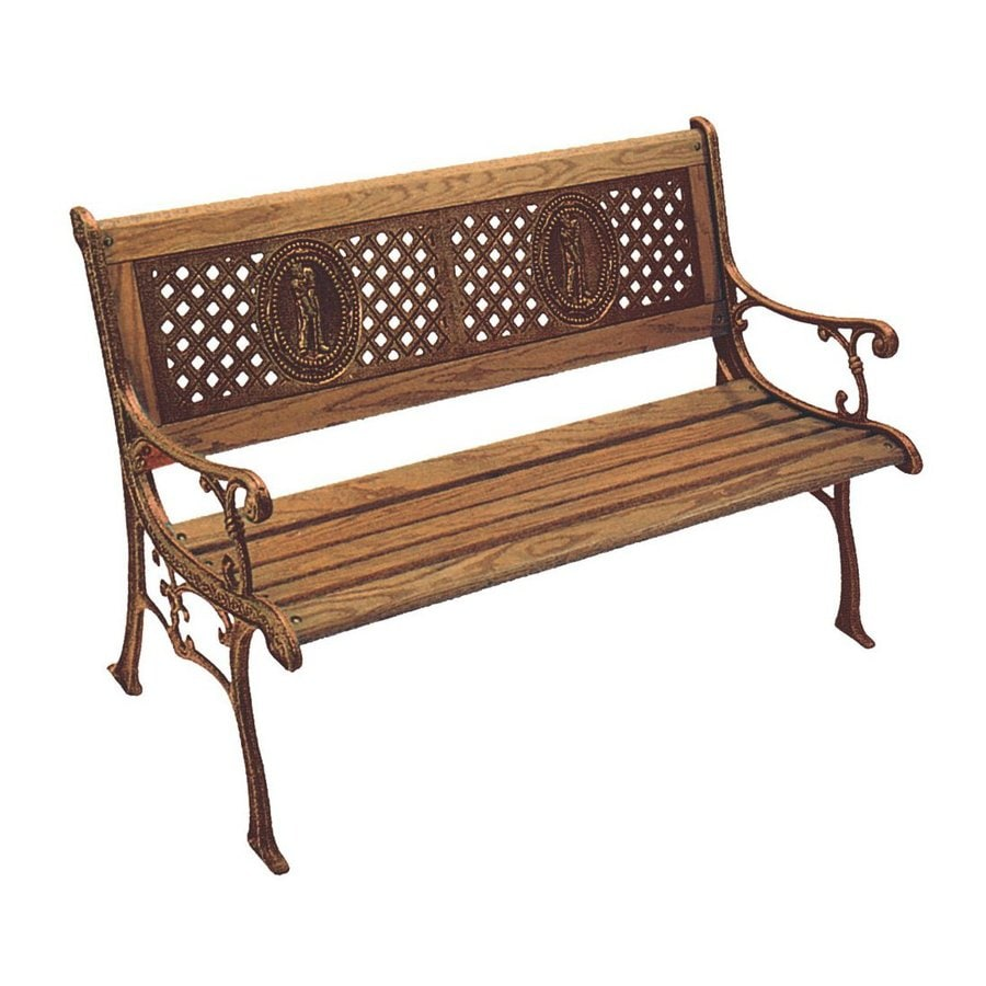 D.C. America 31.5-in W x 49.5-in L Bronze Patio Bench
