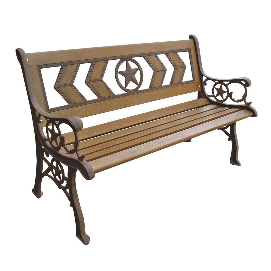 D.C. America Texas 21-in W x 49.5-in L Beige Patio Bench