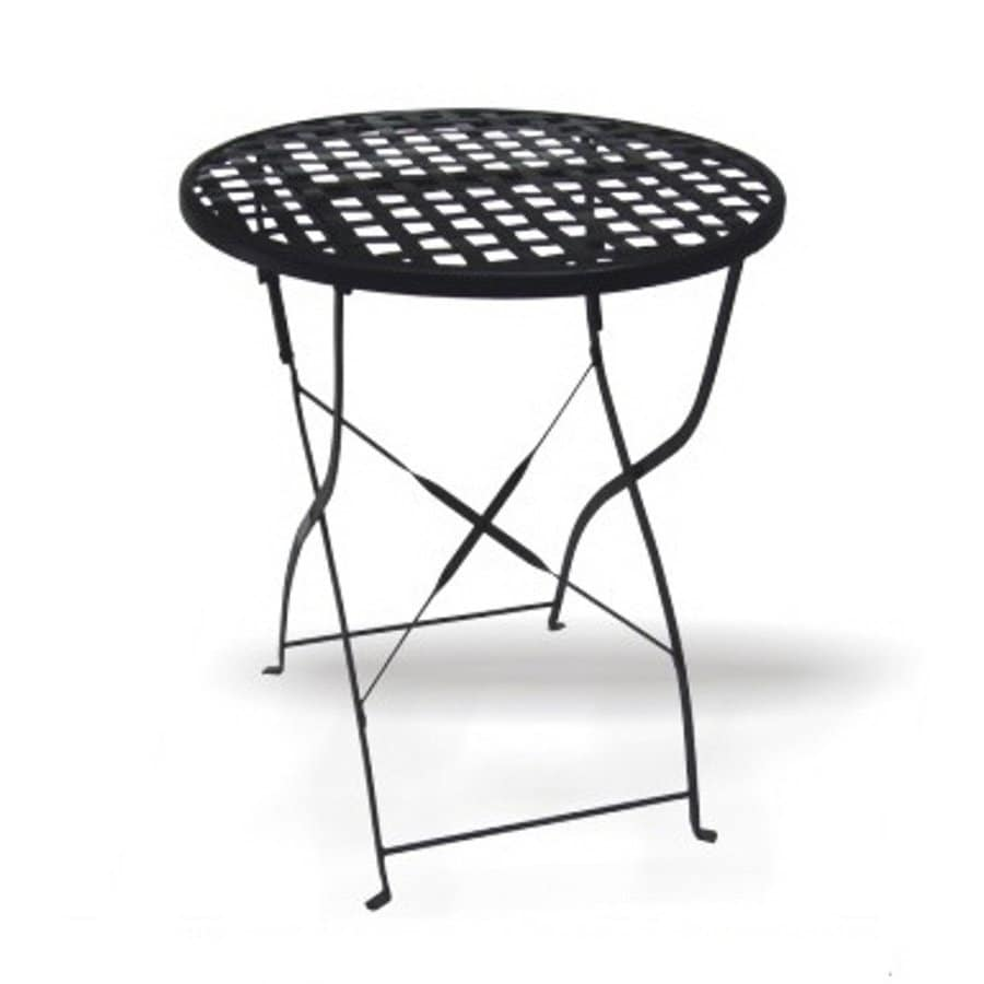 Shop D.C. America Soho 23.5-in Black Wrought Iron-Frame Round Patio ...
