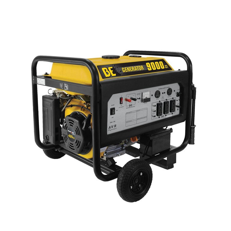 BE Pressure 7,100-Running-Watt Portable Generator with Engine