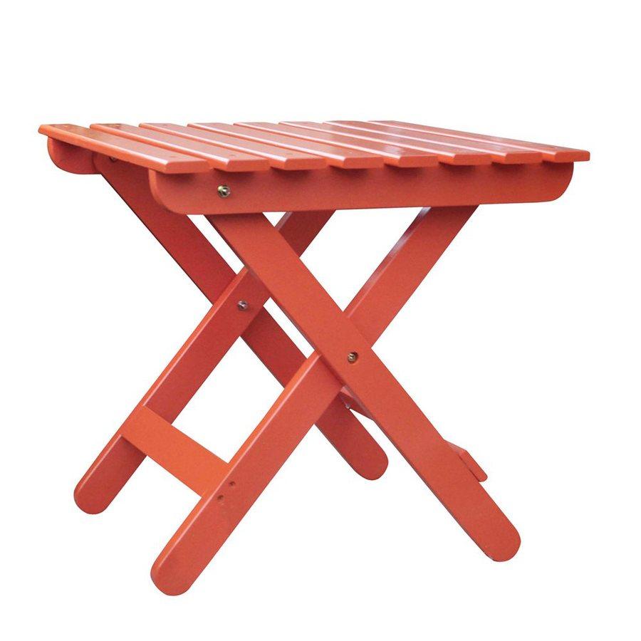 Shine Company 19-in W x 19-in L Square Cedar Folding End Table