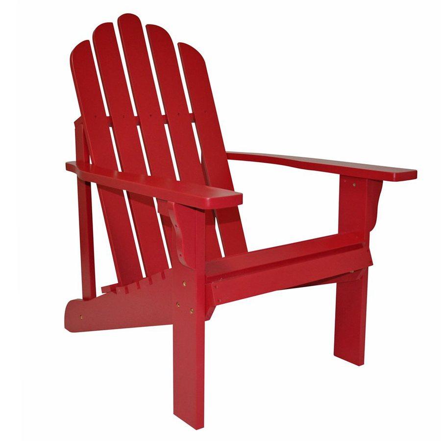 Shine Company Marina Chili Pepper Cedar Patio Adirondack Chair