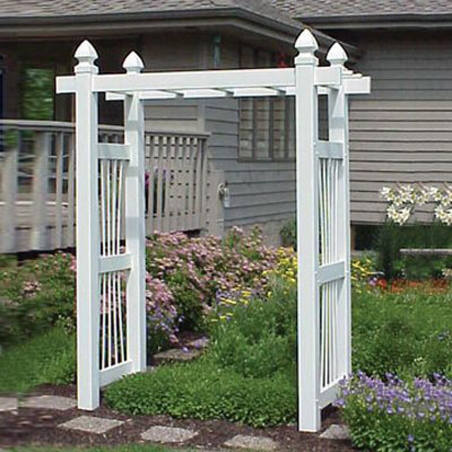 Shop Dura Trel 84 In W X 91 In H White Garden Arbor At