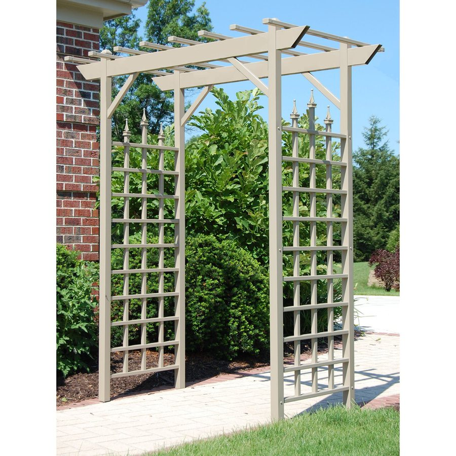 Dura-Trel 72-in W x 85-in H Brown Garden Arbor