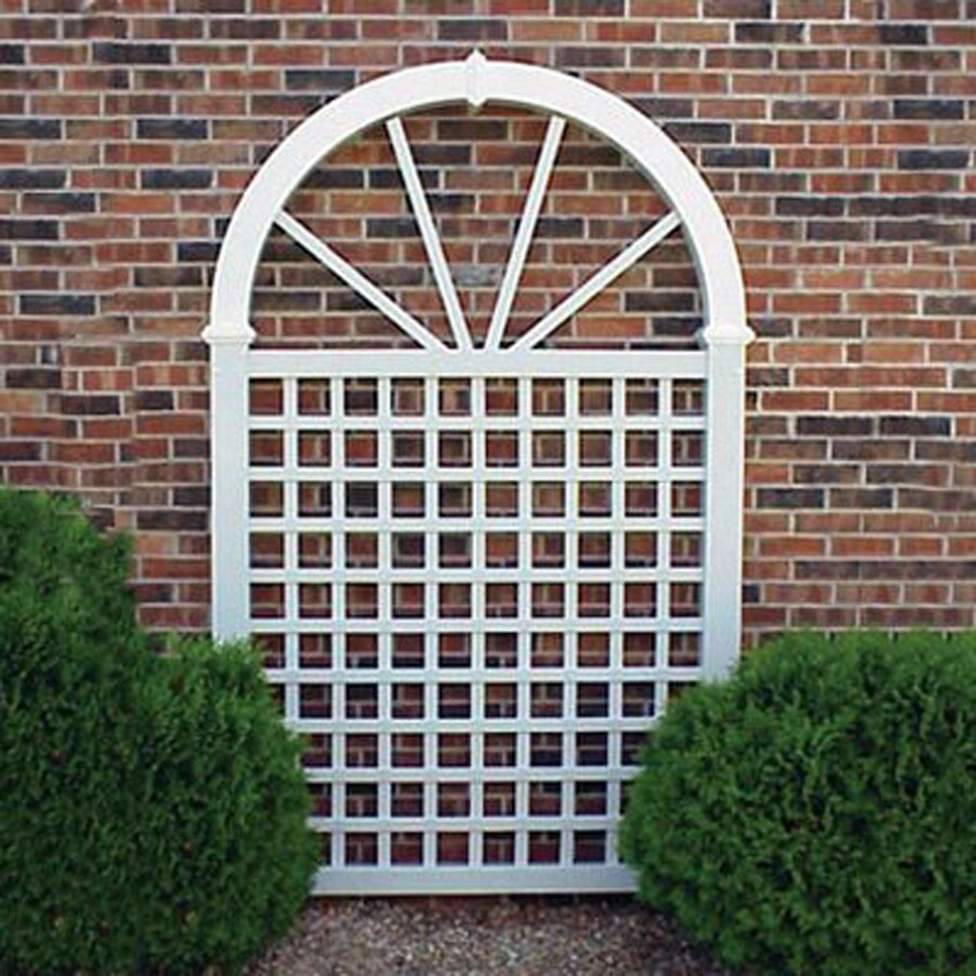 Dura-Trel 57-in W x 92-in H White Transitional Garden Trellis