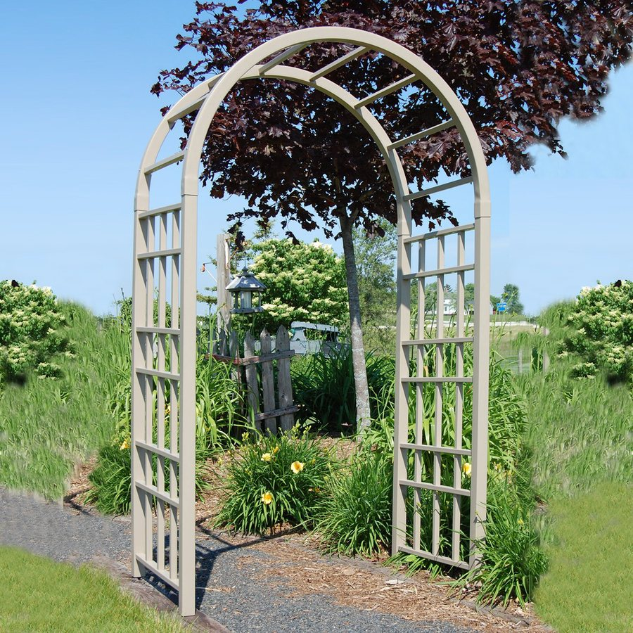 Dura-Trel 54-in W x 90-in H Brown Garden Arbor
