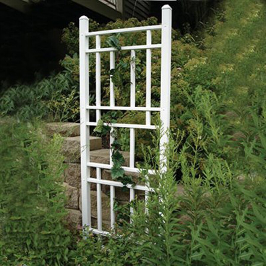 Dura-Trel 28-in W x 75-in H White Transitional Garden Trellis