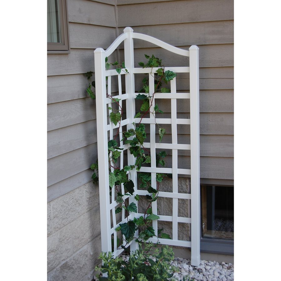 Dura-Trel 21-in W x 66-in H White Transitional Garden Trellis