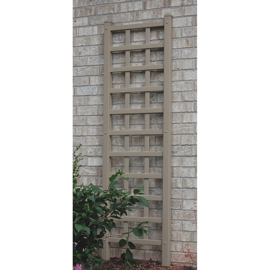 Dura-Trel 22-in W x 75-in H Mocha Craftsman/Mission Garden Trellis